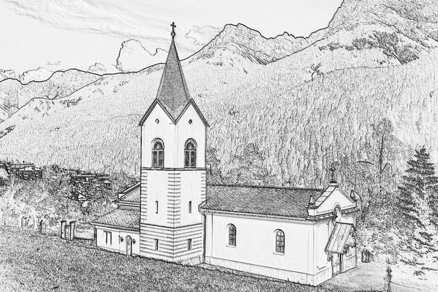 Herz-Jesu-Kirche Scuol